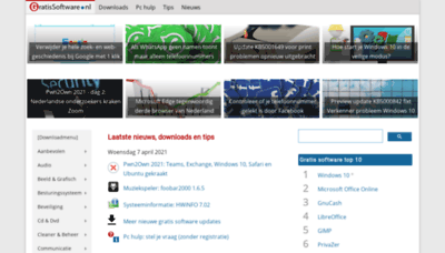 What Gratissoftwaresite.nl website looks like in 2021