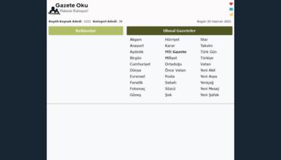 What Gazeteoku.tv website looks like in 2021