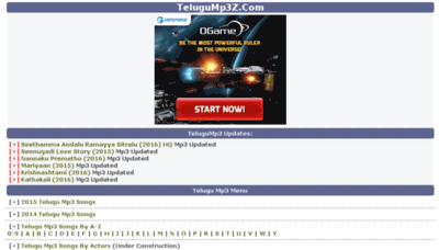 What Hqzone.telugump3z.org website looked like in 2016 (5 years ago)
