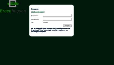What Huysnet.groenhuysen.nl website looked like in 2016 (5 years ago)