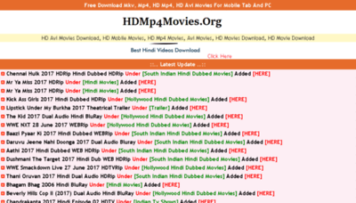 What Hdmp4movies.org website looked like in 2017 (3 years ago)
