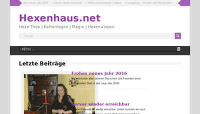 What Hexenhaus.net website looked like in 2018 (3 years ago)