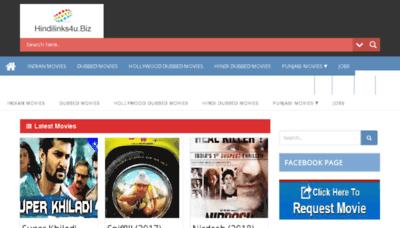 What Hindilinks4u.biz website looked like in 2018 (3 years ago)