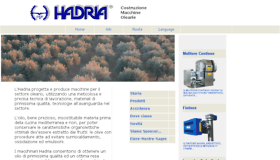 What Hadria.it website looked like in 2018 (3 years ago)