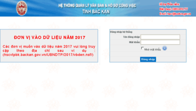 What Hscvtpbk.backan.gov.vn website looked like in 2018 (3 years ago)