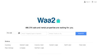 What Homes.waa2.co.za website looked like in 2018 (3 years ago)