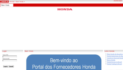 What Hondahsa.com.br website looked like in 2018 (3 years ago)