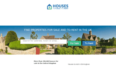 What Housesforsaletorent.co.uk website looked like in 2018 (3 years ago)