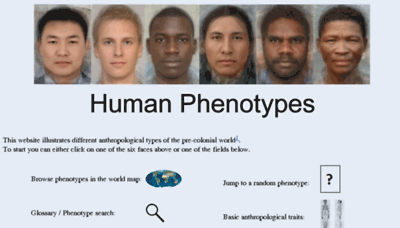 What Humanphenotypes.net website looked like in 2018 (2 years ago)