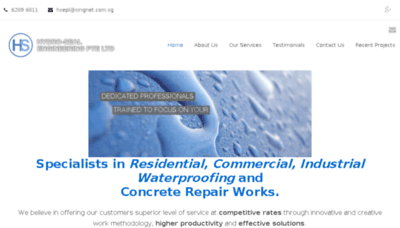 What Hydroseal.com.sg website looked like in 2018 (2 years ago)