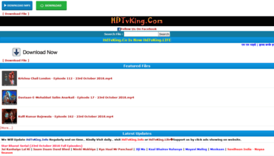 What Hdtvking.life website looked like in 2018 (2 years ago)