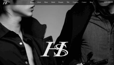 What Hinkes.jp website looked like in 2019 (2 years ago)