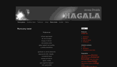 What Hagal.pl website looked like in 2019 (2 years ago)