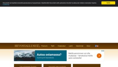 What Hevostalli.net website looked like in 2019 (1 year ago)