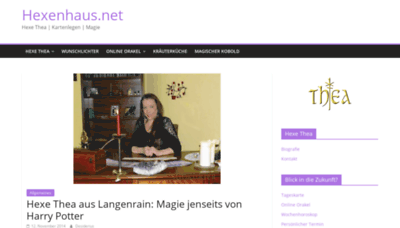 What Hexenhaus.net website looked like in 2019 (1 year ago)