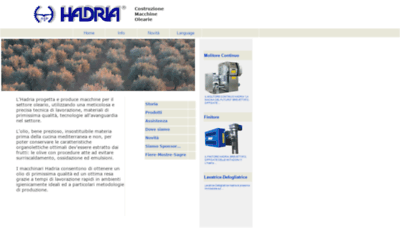 What Hadria.it website looked like in 2020 (1 year ago)