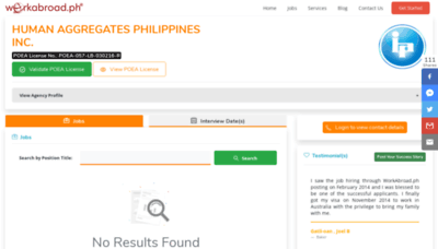 What Hapi.workabroad.ph website looked like in 2020 (1 year ago)
