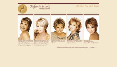 What Haarsysteme-scholz.de website looked like in 2020 (This year)