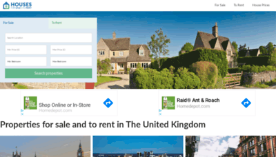 What Housesforsaletorent.co.uk website looked like in 2020 (1 year ago)