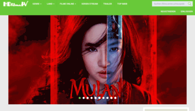 What Hdfilme.tv website looked like in 2020 (1 year ago)