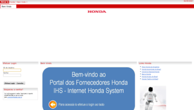 What Hondahsa.com.br website looked like in 2020 (This year)