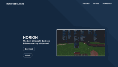 What Horionbeta.club website looked like in 2020 (This year)