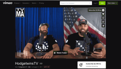 What Hodgetwins.tv website looked like in 2020 (This year)