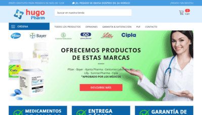 What Hugopharm.es website looks like in 2021