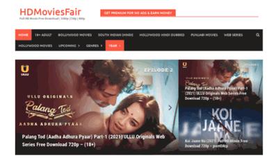 What Hdmoviesfair.fun website looks like in 2021