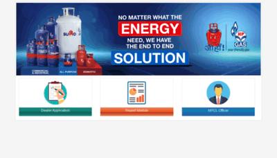 What Hpgasweb.hpcl.co.in website looks like in 2021