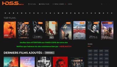 What Hdss.watch website looks like in 2021