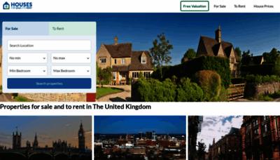 What Housesforsaletorent.co.uk website looks like in 2021
