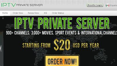 What Iptvprivateserver.tv website looked like in 2017 (4 years ago)
