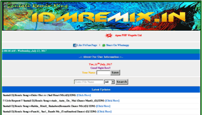 What Idmremix.in website looked like in 2017 (4 years ago)