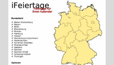 What Ifeiertage.de website looked like in 2018 (3 years ago)
