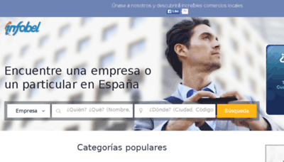 What Infobel.es website looked like in 2018 (3 years ago)