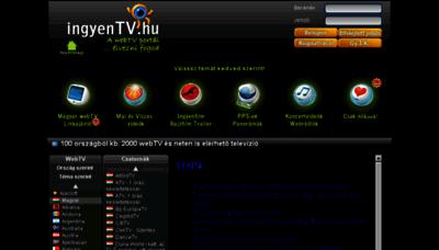 What Ingyentv.hu website looked like in 2018 (3 years ago)