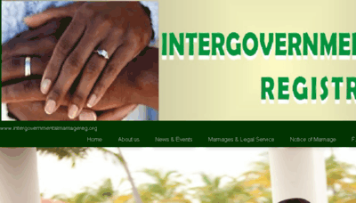 What Intergovernmentalmarriagereg.org website looked like in 2018 (2 years ago)