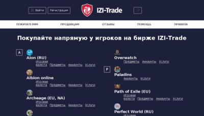 What Izi-trade.ru website looked like in 2018 (3 years ago)