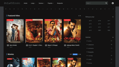 What India4movies.cc website looked like in 2018 (2 years ago)