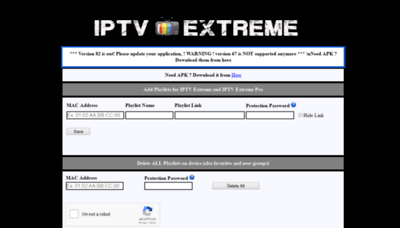 What Iptvextreme.eu website looked like in 2019 (2 years ago)