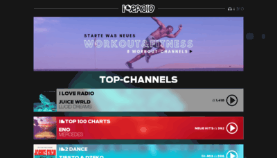 What Iloveradio.de website looked like in 2019 (2 years ago)