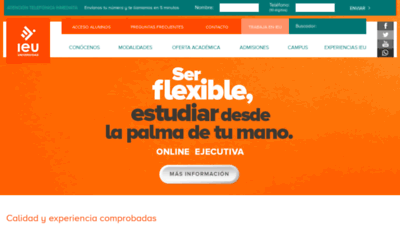 What Ieu.edu.mx website looked like in 2019 (2 years ago)