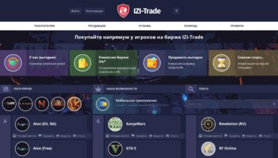 What Izi-trade.ru website looked like in 2019 (2 years ago)