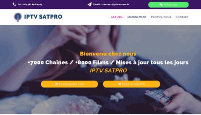 What Iptv-satpro.fr website looked like in 2019 (1 year ago)