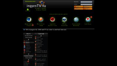 What Ingyentv.hu website looked like in 2019 (1 year ago)
