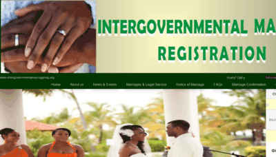 What Intergovernmentalmarriagereg.org website looked like in 2019 (1 year ago)