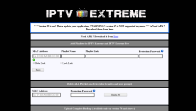 What Iptvextreme.eu website looked like in 2020 (1 year ago)