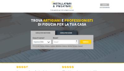 What Installatorieposatori.it website looked like in 2020 (1 year ago)