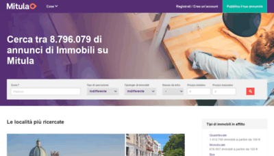 What Immobiliare.mitula.it website looked like in 2020 (1 year ago)